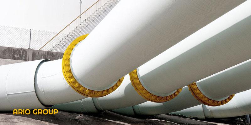 رنگ آمیزی حرفه ای لوله گاز صنعتی توسط آریو رنگ دماوند