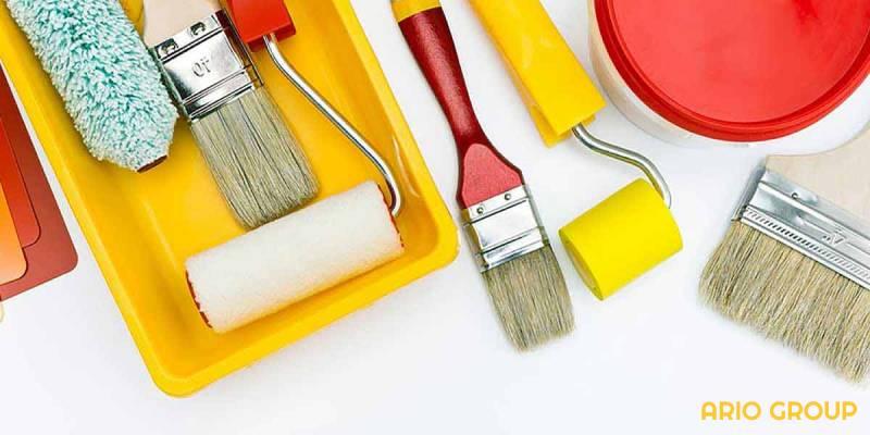 ابزارهای رنگ ساختمانی برای سقف_آریو رنگ دماوند