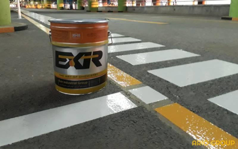 رنگ ترافیکی آسفالت آریو رنگ دماوند
