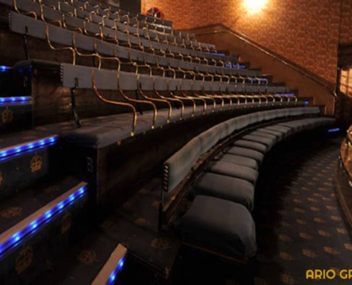 کفپوش سالن سینما_آریو رنگ دماوند
